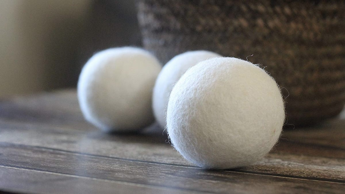 Wool Dryer Balls Naturally Help Soften Laundry and Speed Up Drying Time