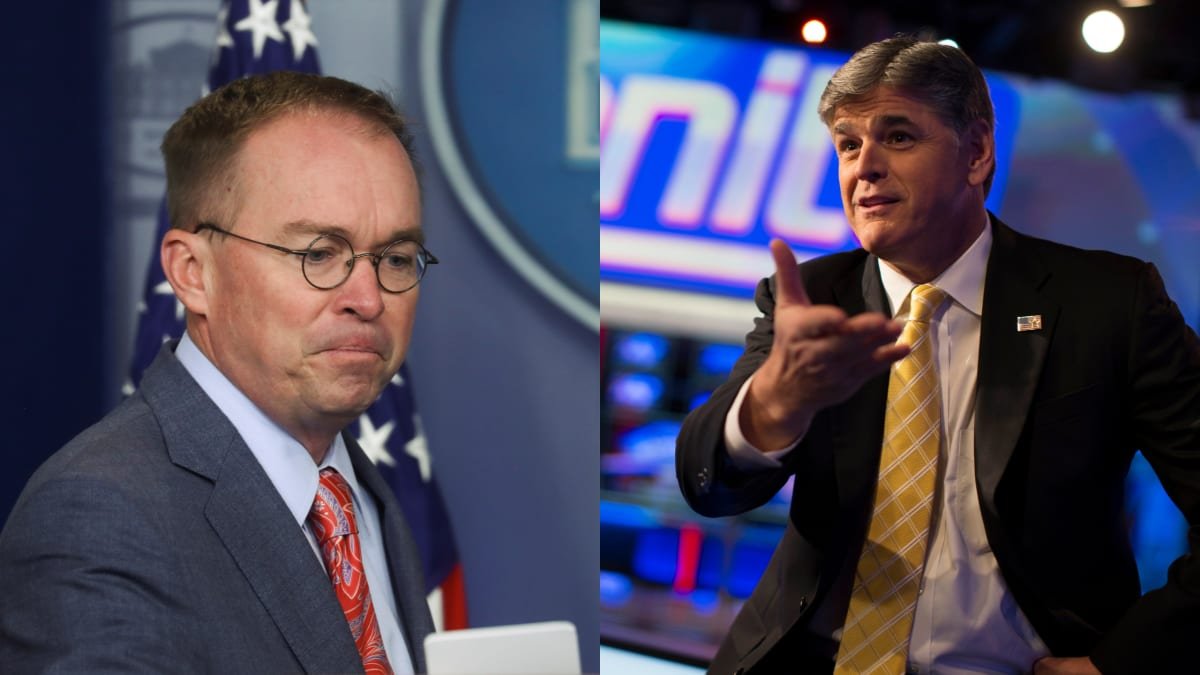 Sean Hannity Goes Off on Mick Mulvaney for Admitting Quid Pro Quo: 'I Just Think He's Dumb'
