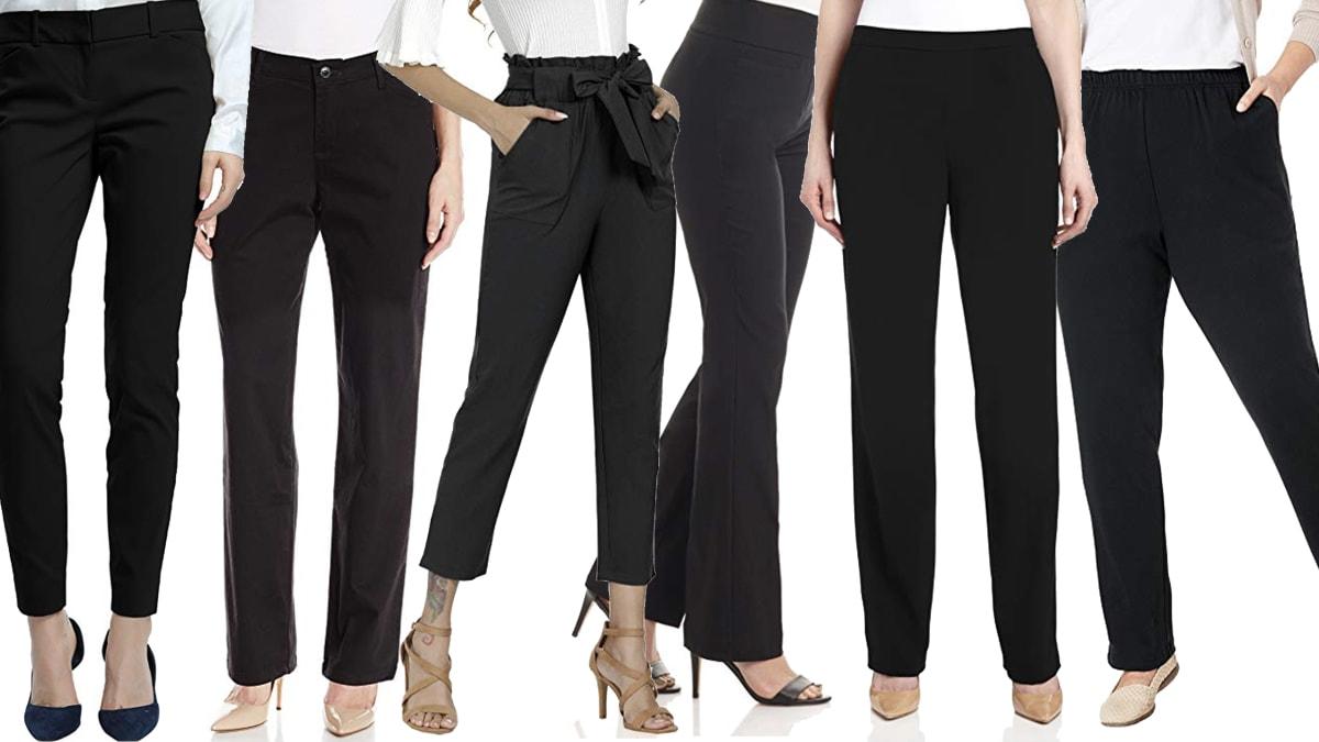 The Best Women's Basic Black Pants on Amazon