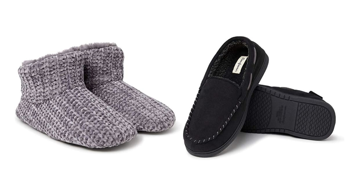 Amazon Is Marking Down Dearfoams Slippers for Men and Women, a Perfect Last-Minute Gift