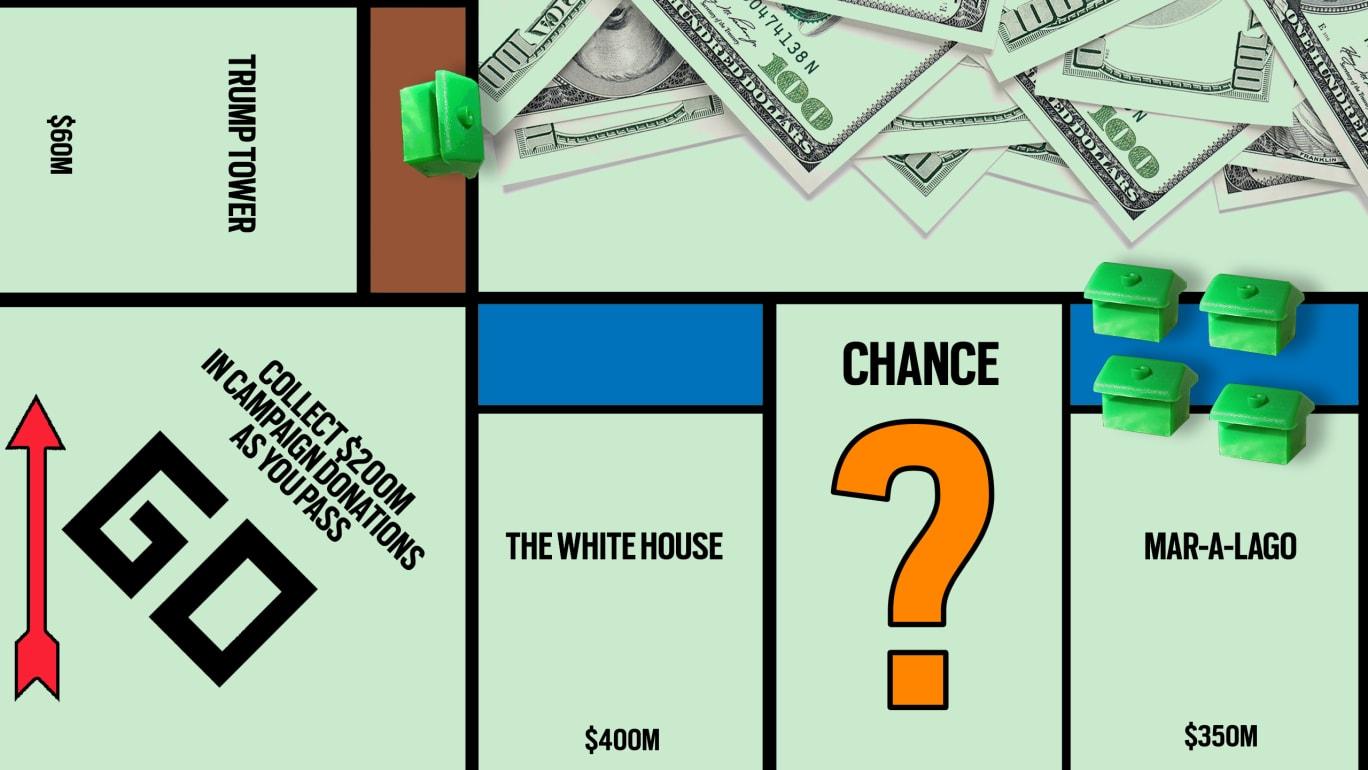 Team Trump and GOP Pals Pass Go, Spend $1.7 Million at Trump Properties