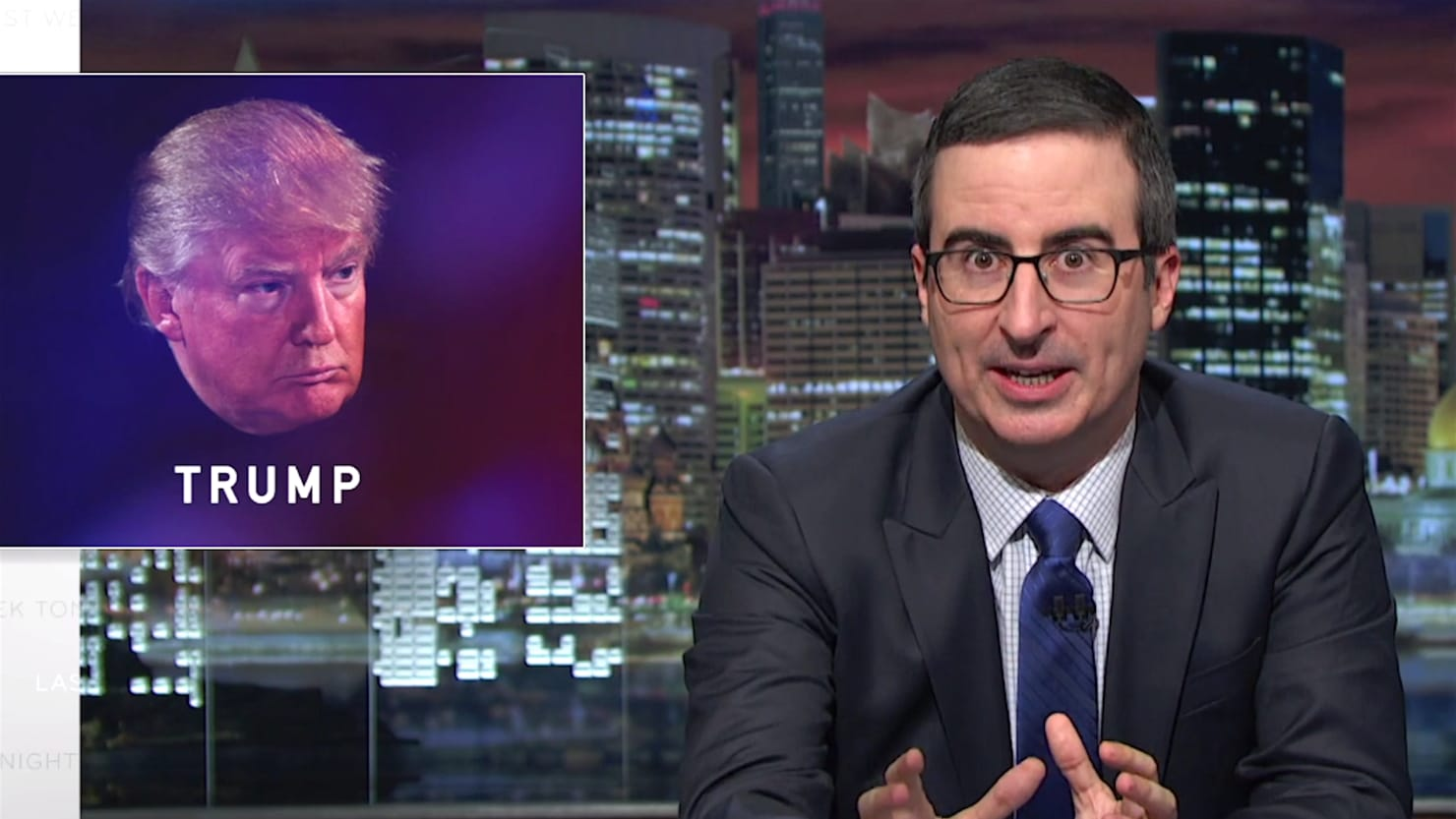 John Oliver to Trump: 'Drop Out' Now and 'You Would Be a Legend'