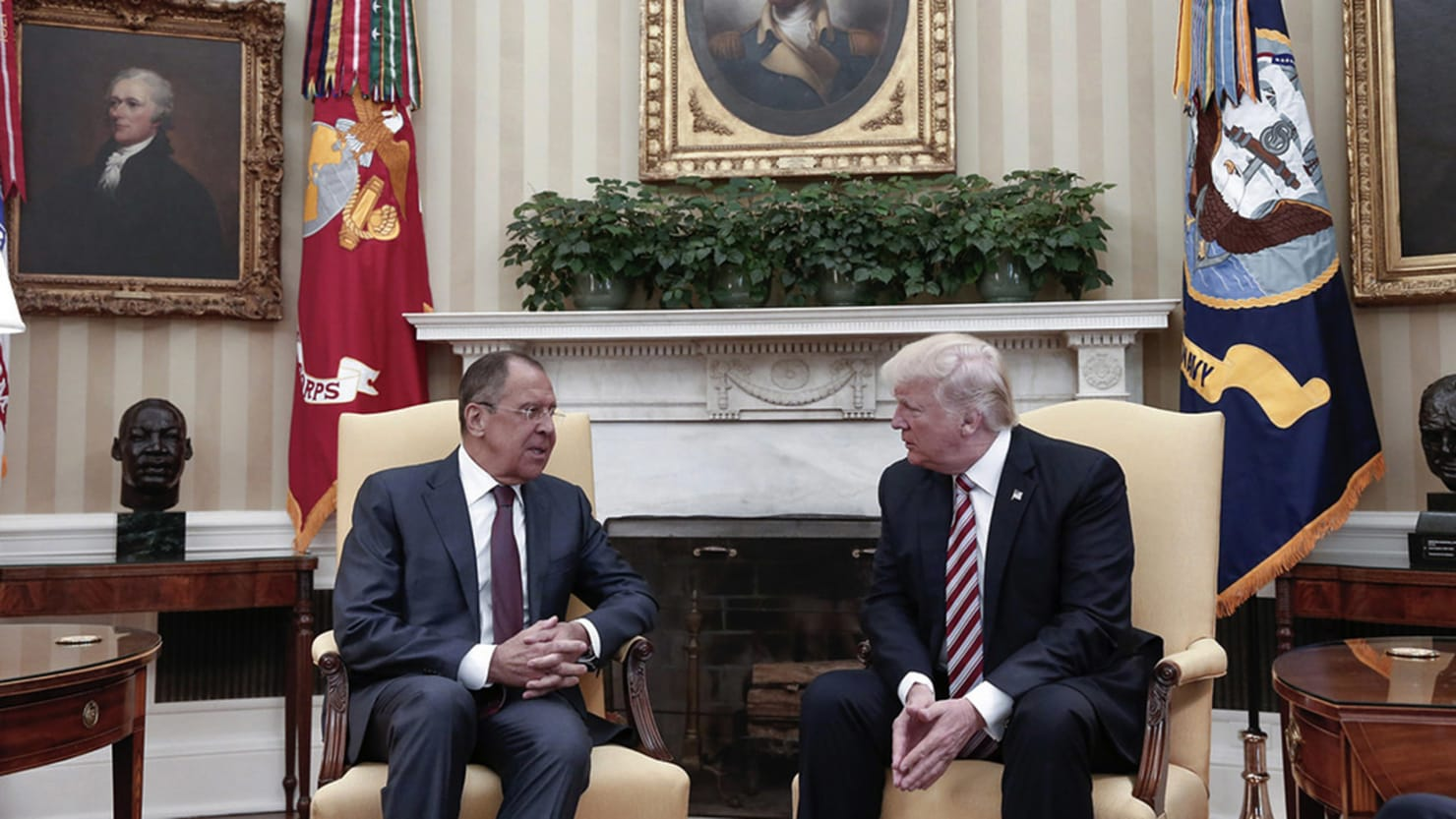 oval office picture. Russian Foreign Ministry Photo Via AP Oval Office Picture