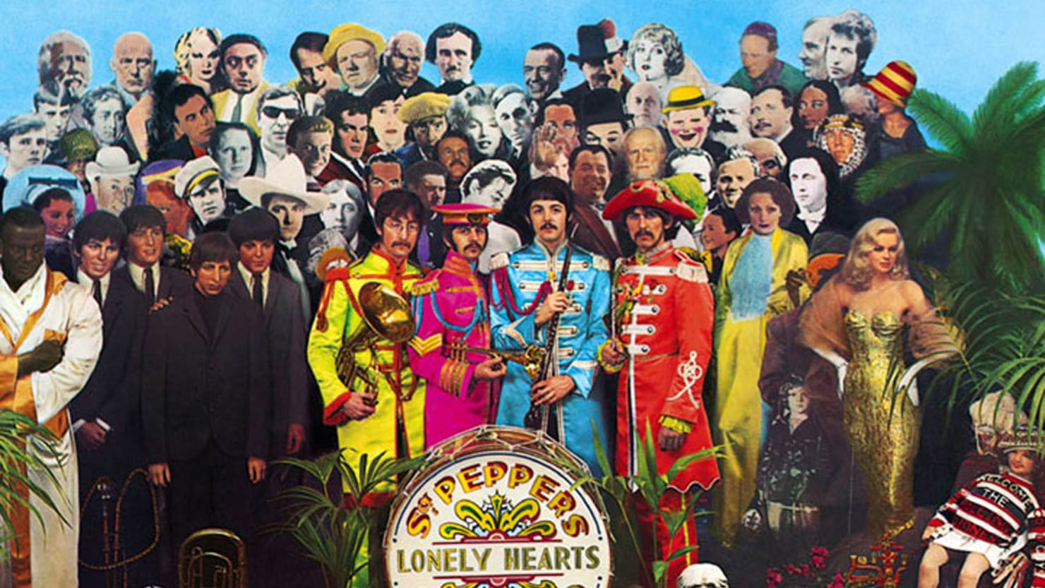 Image result for sgt pepper's lonely hearts club band wallpaper