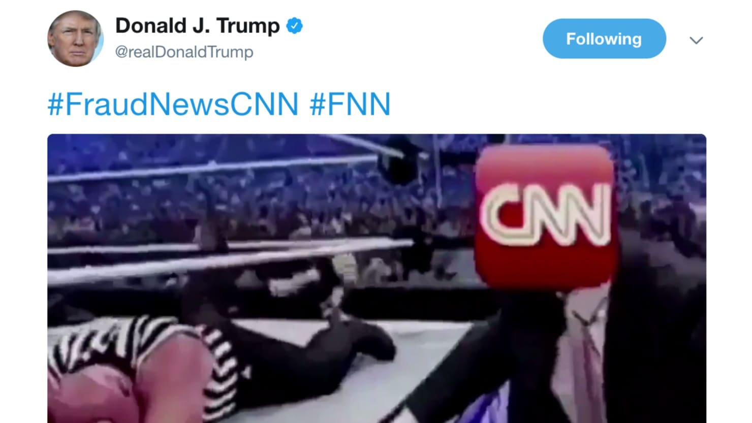 Cnn World News Twitter: Trump Tweets Video Of Him Punching CNN