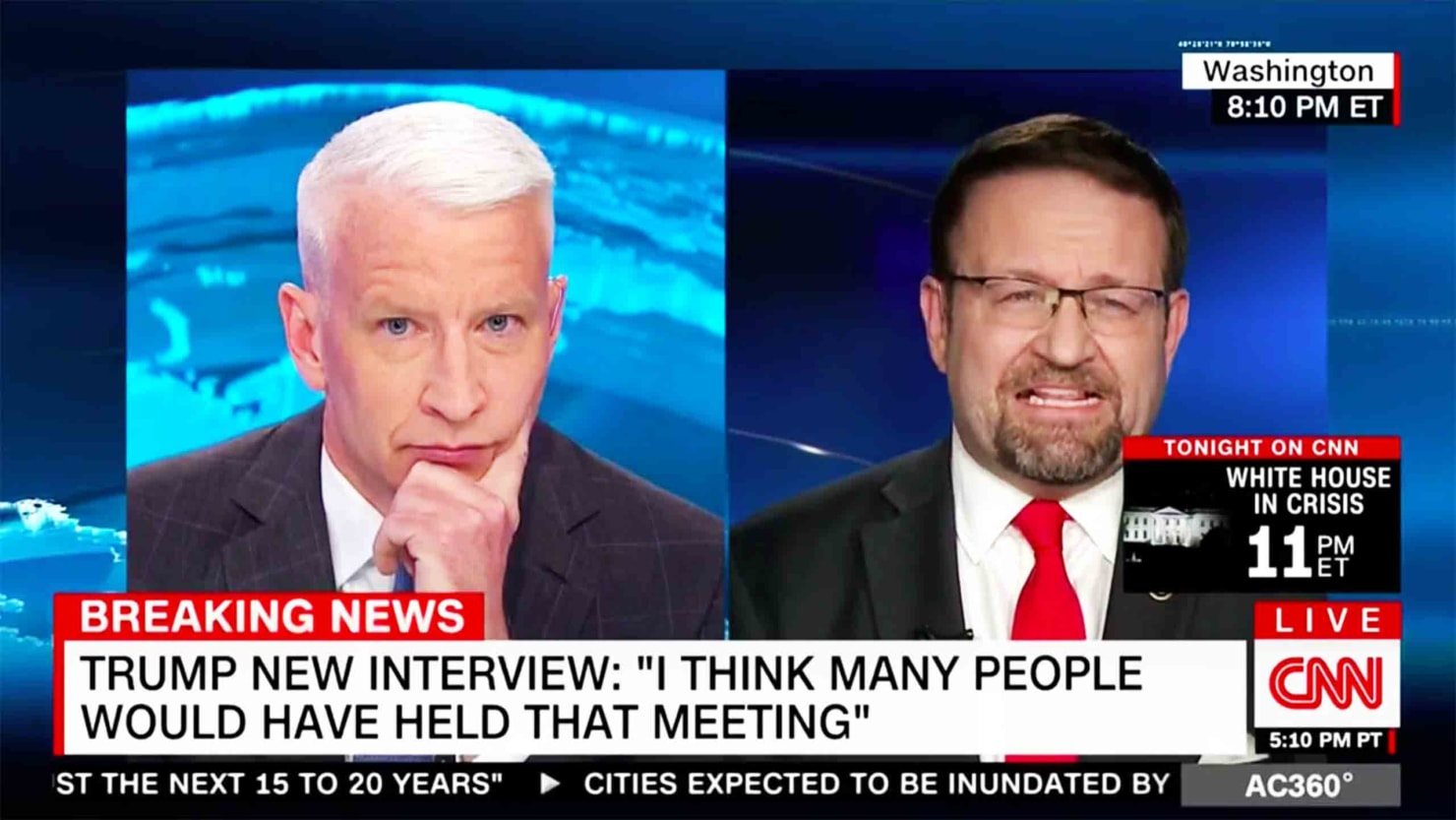 CNN World News Picture: Watch: Seb Gorka Baffles Anderson Cooper With Alternative