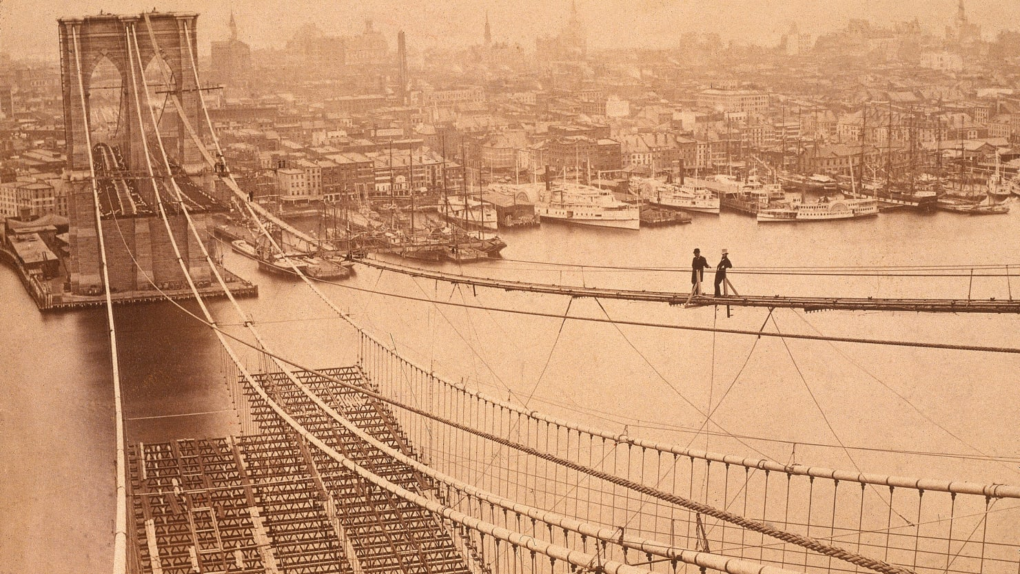 The Brooklyn Bridge S Builders Fought Fire Flood And Death