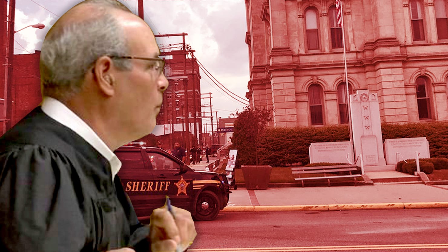 Judge Joseph Bruzzese survived an attack by a gunman in Steubenville, Ohio, after he returned fire Monday morning. The sheriff said he told Bruzzese to pack heat.