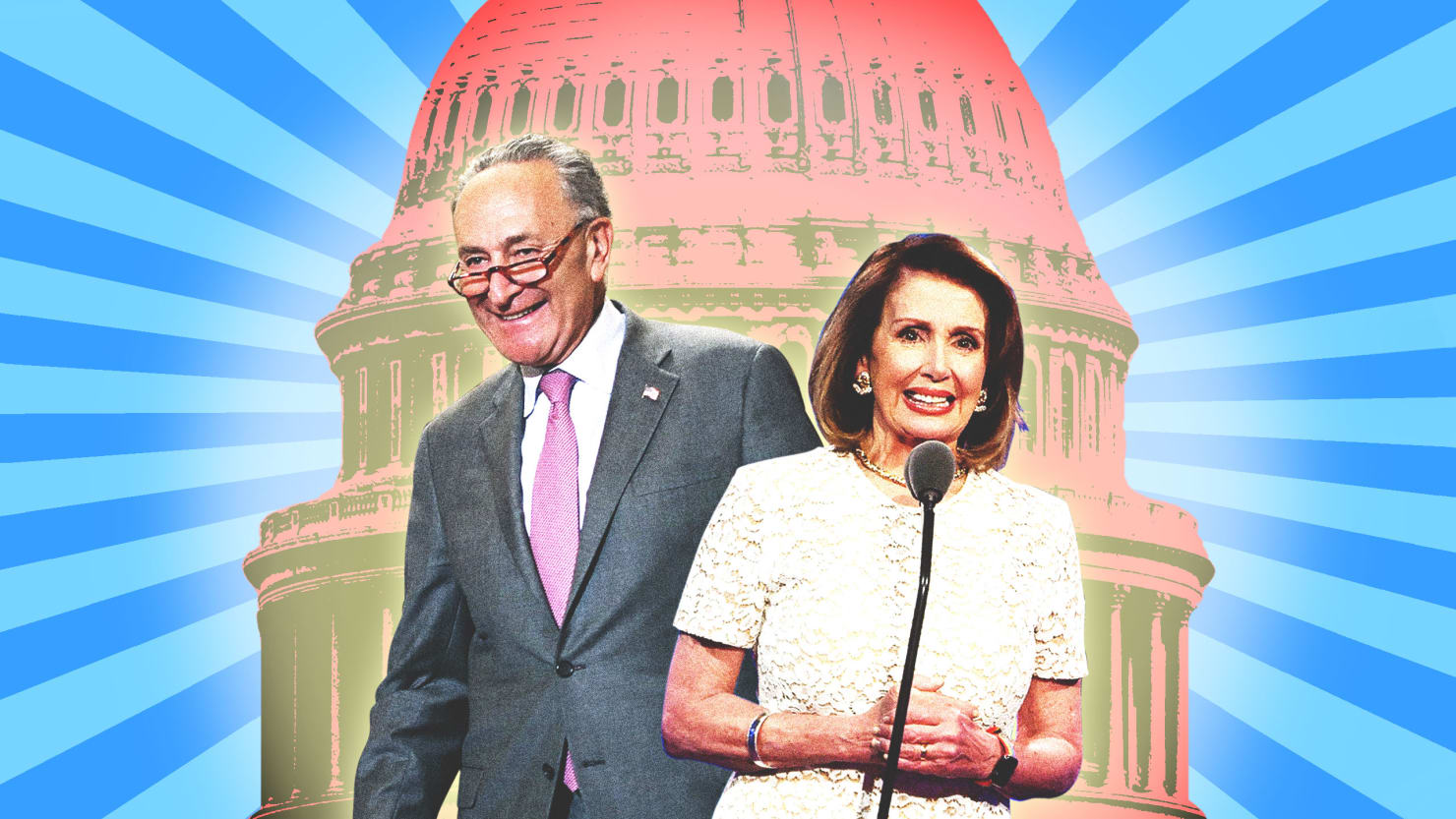 Chuck Schumer and Nancy Pelosi, Democrats on the Trump-DACA Deal