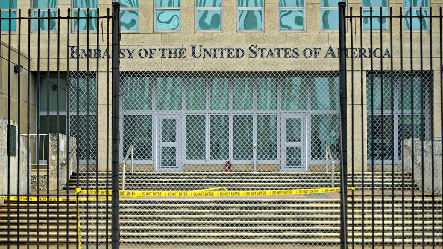 US spies hit by acoustic attack