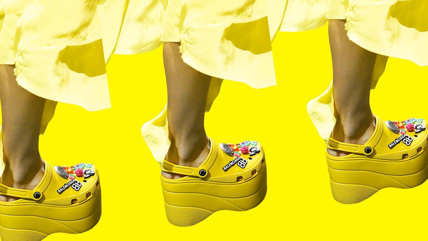 Platform Crocs at Paris Fashion Week