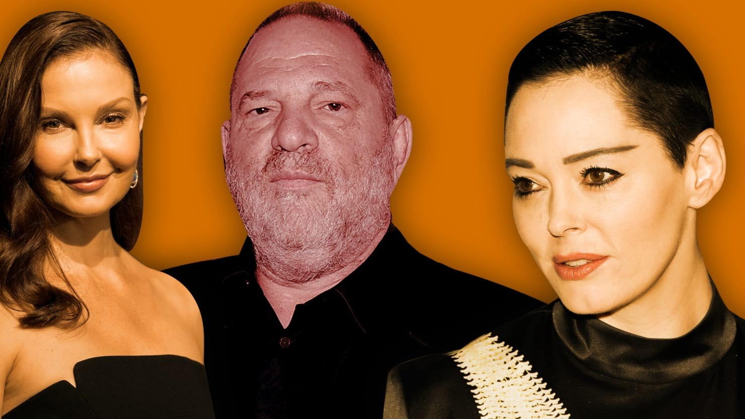 Harvey Weinstein, Ashley Judd, Rose McGowan.