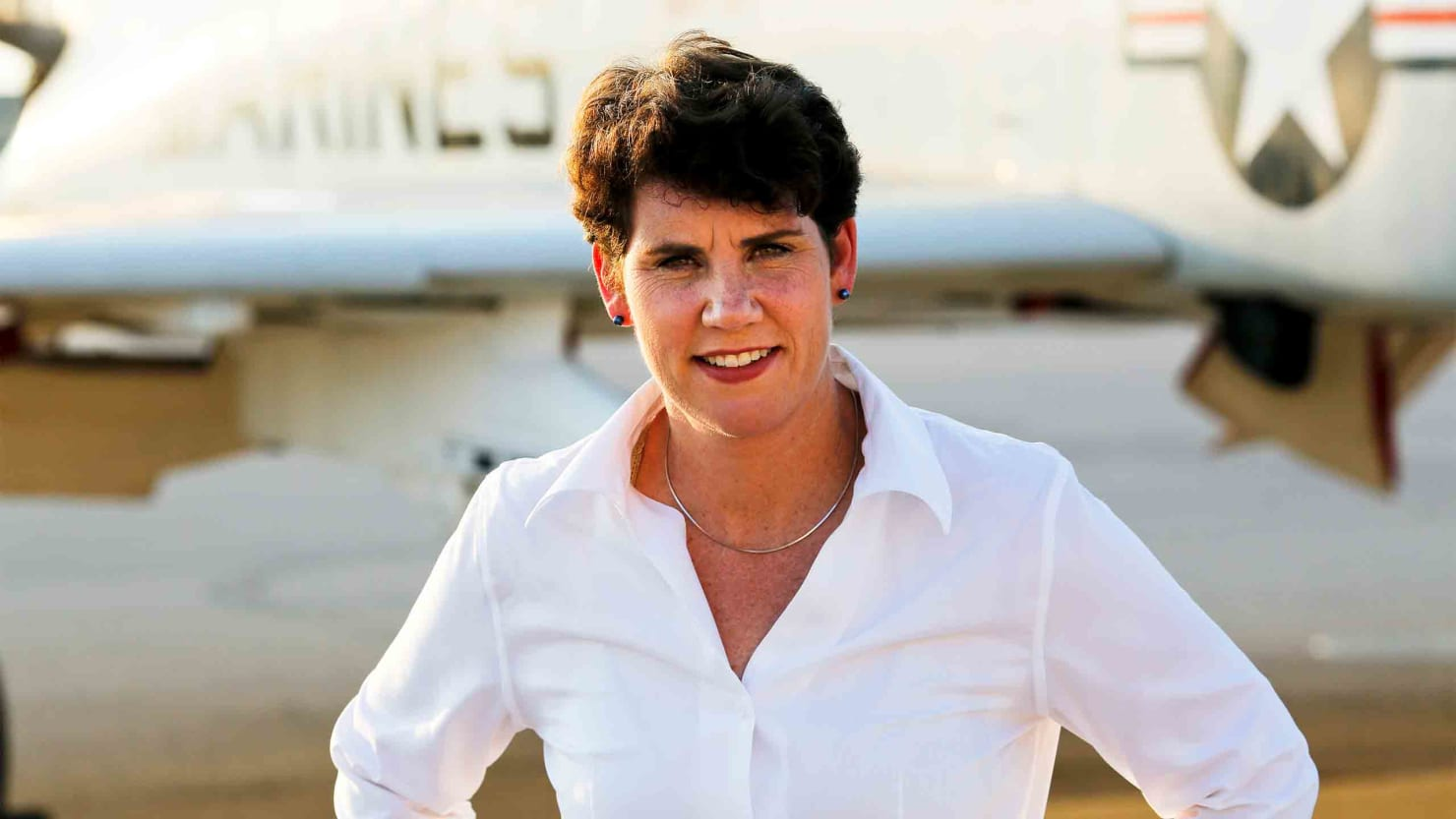 Marine, Fighter Pilot, War Vet—and Woman and Democrat