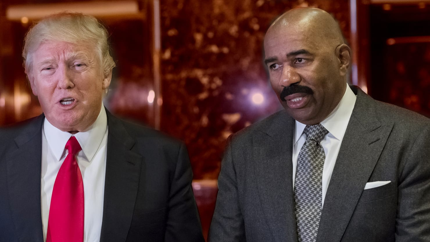 oh so now steve harvey is sorry for cozying up to trump