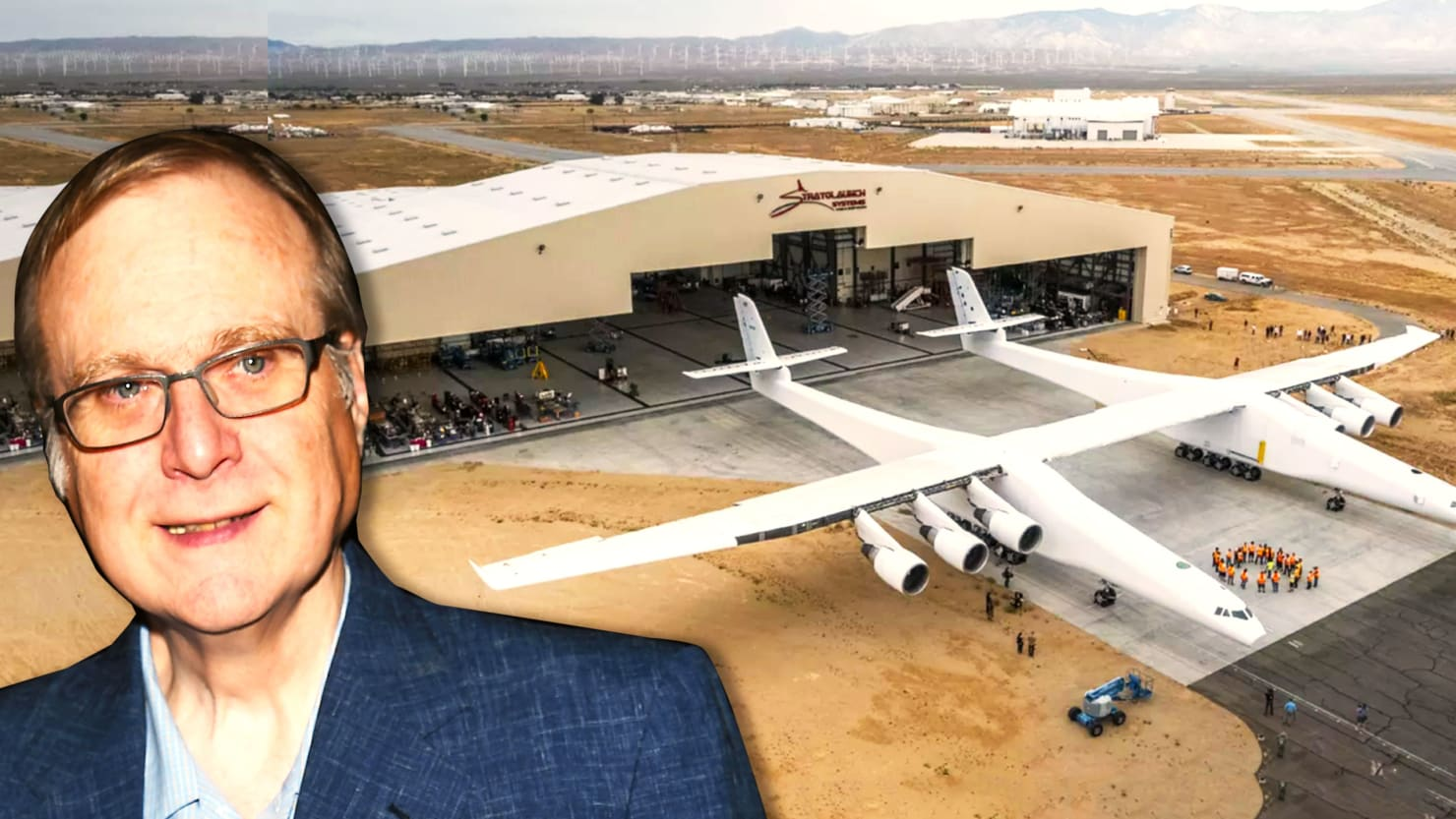 Paul Allen's Stratolauncher, the Biggest Airplane Ever, Gets Ready for Takeoff