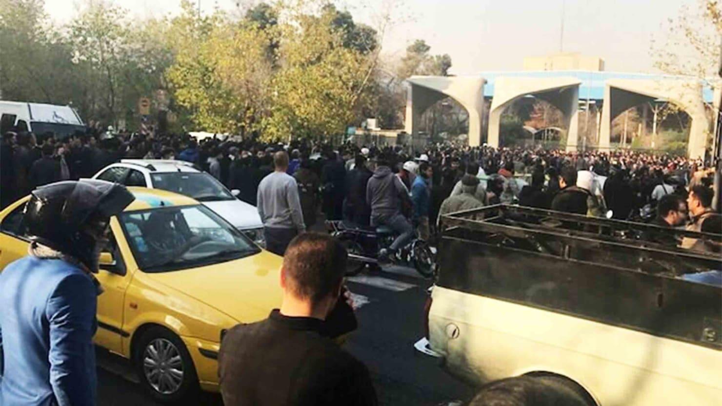 Students Protestors Reportedly Beaten at Tehran University
