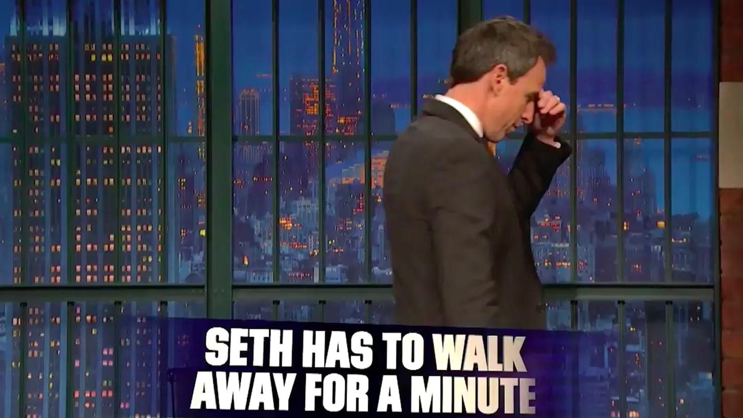 Seth Meyers Walks Off Set After Trump's 'Shithole ...