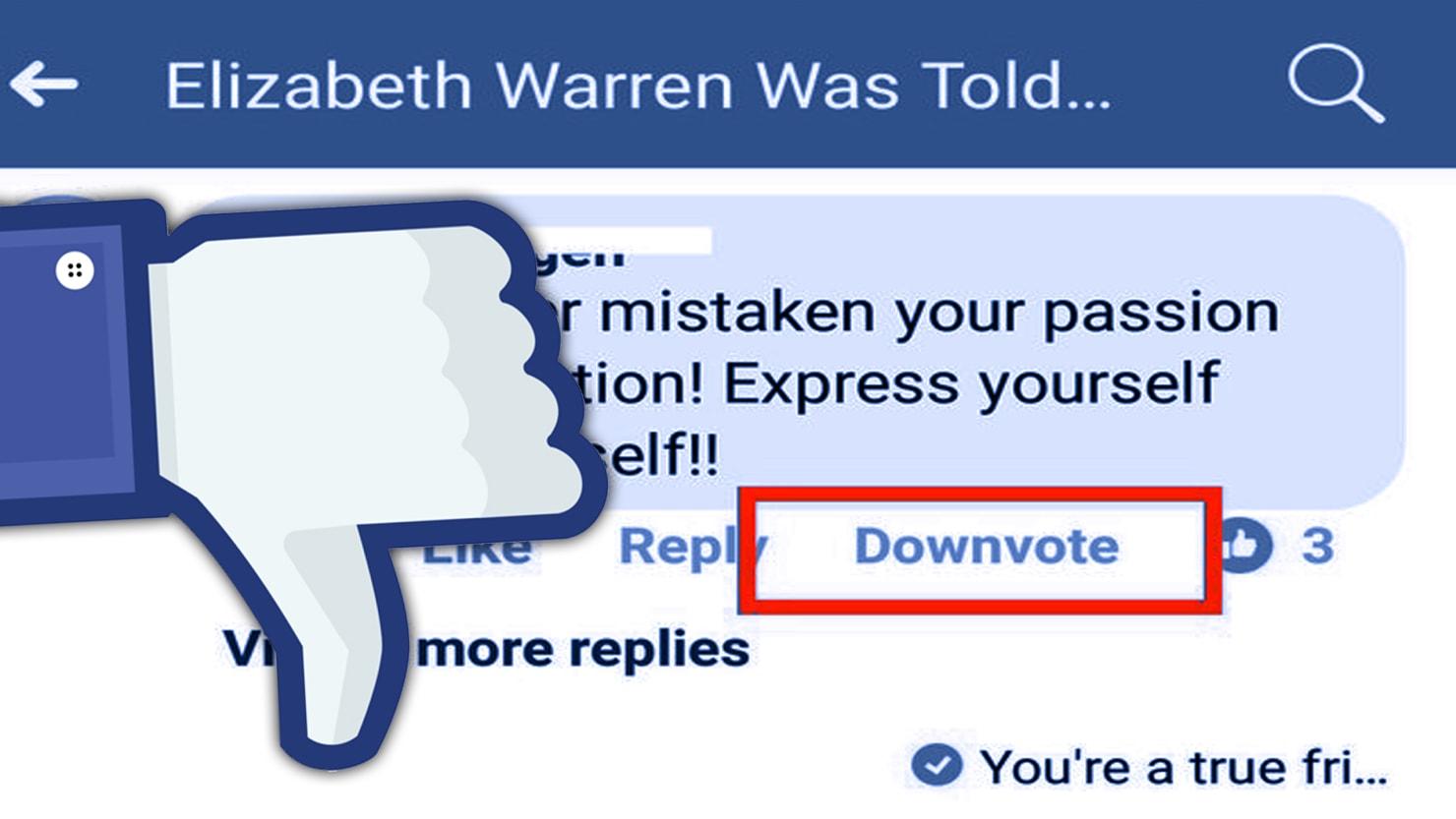facebook dislike downvote ile ilgili görsel sonucu