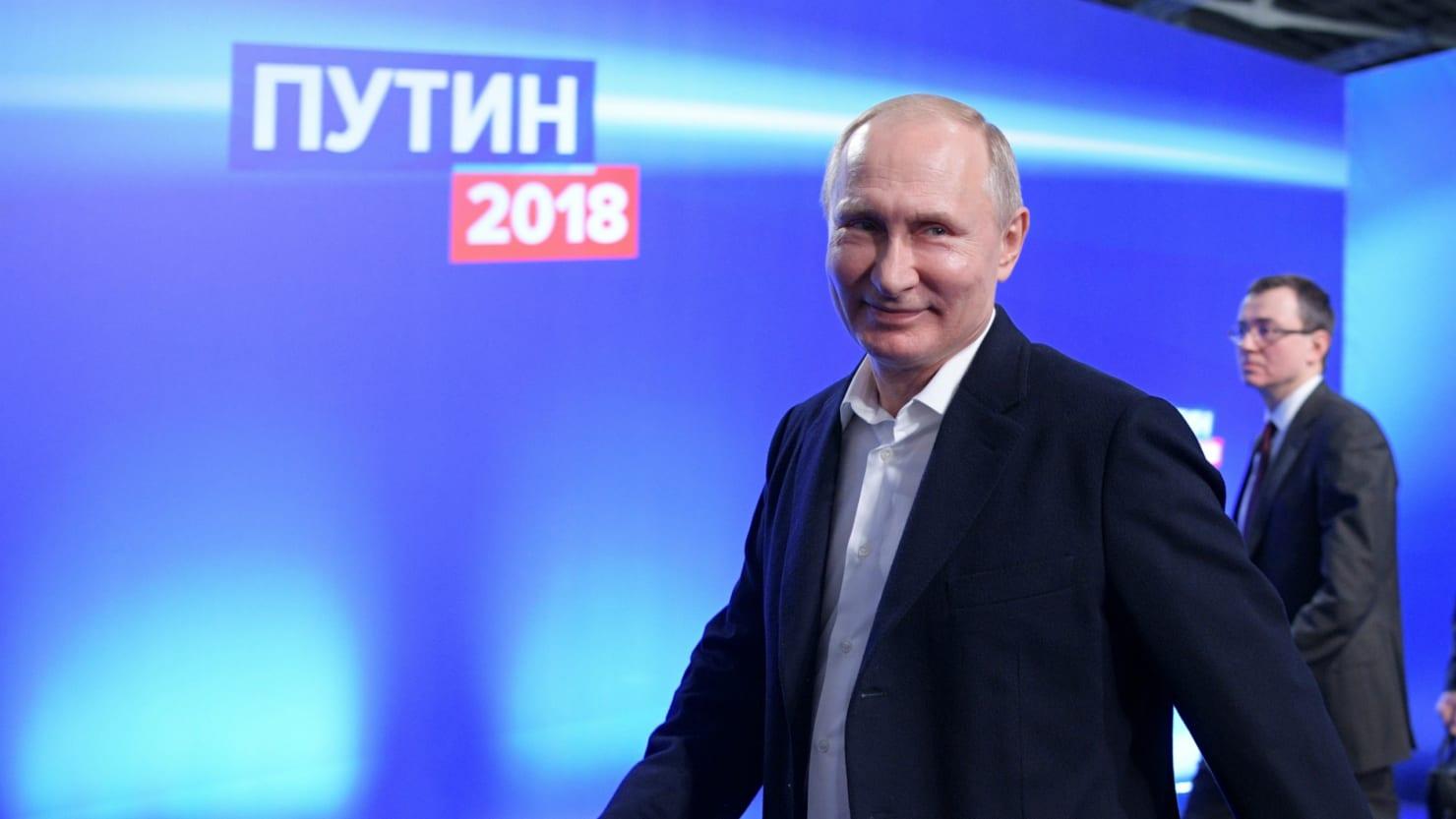 Владимир Путин ОХУ-ын Ерөнхийлөгчөөр улиран сонгогдлоо
