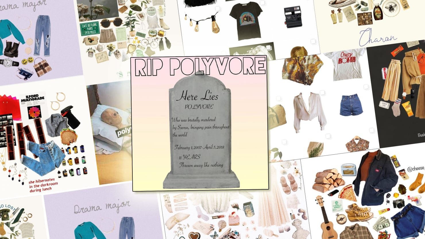 the instagram moodboard community is having a breakdown over polyvore closing down. Black Bedroom Furniture Sets. Home Design Ideas