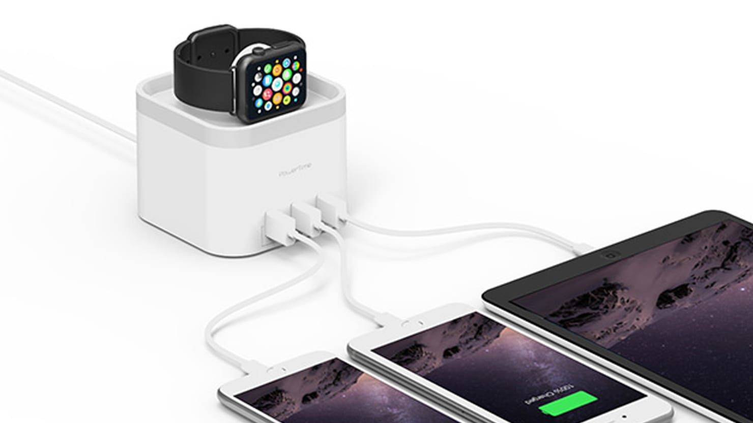 4 Port USB Charger Station for Apple Watch