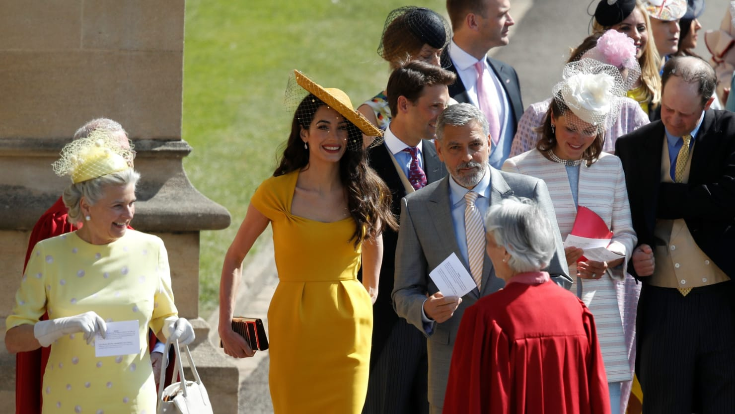 George and Amal Clooney at the Royal Wedding 180519-royal-wedding-celebrity-guests-cheat_uquclr