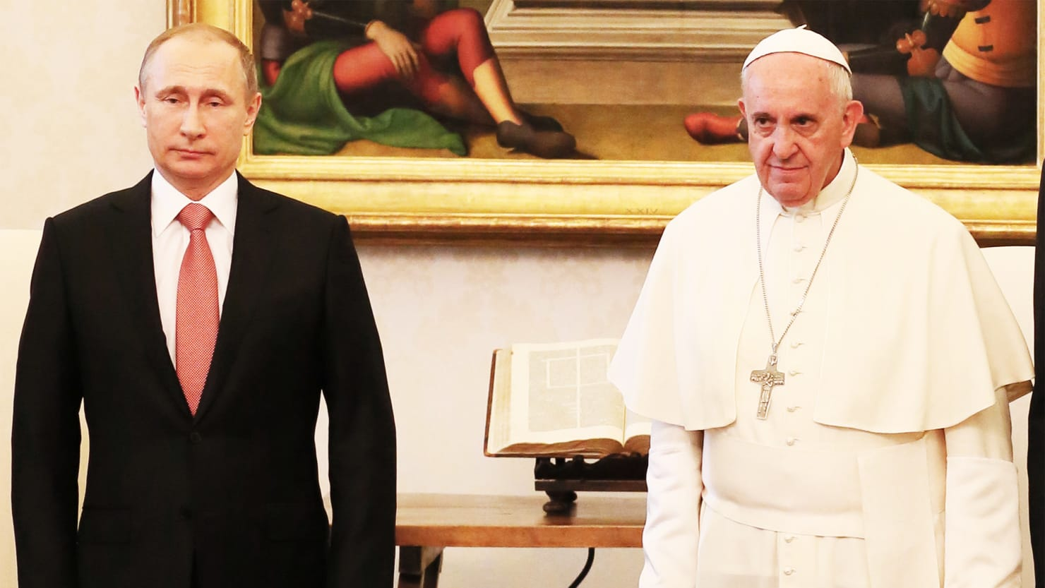 Putin's People Claimed Pope Francis Was With Them Supporting Assad. Nope.