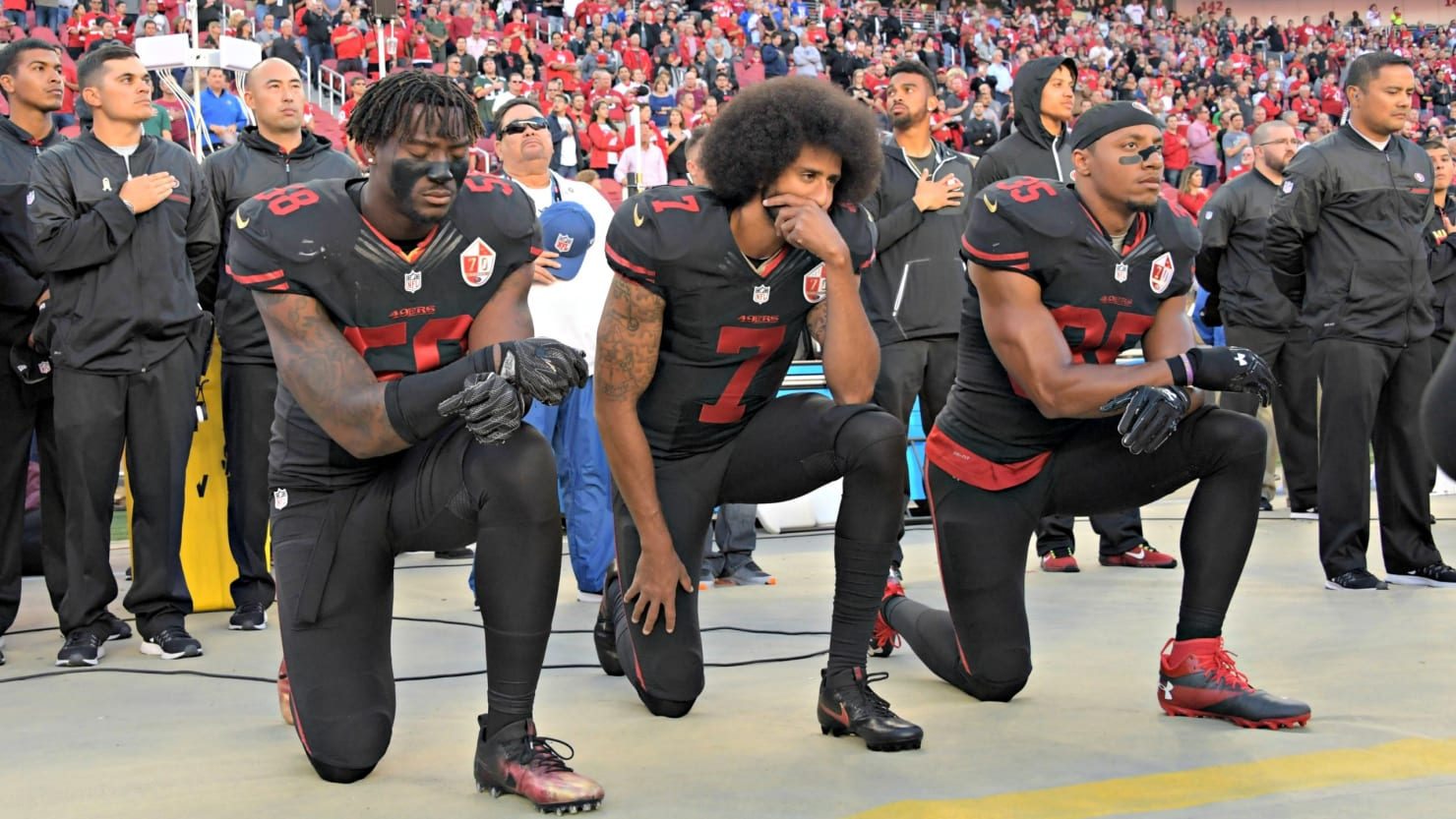 Image result for nfl kneeling policy