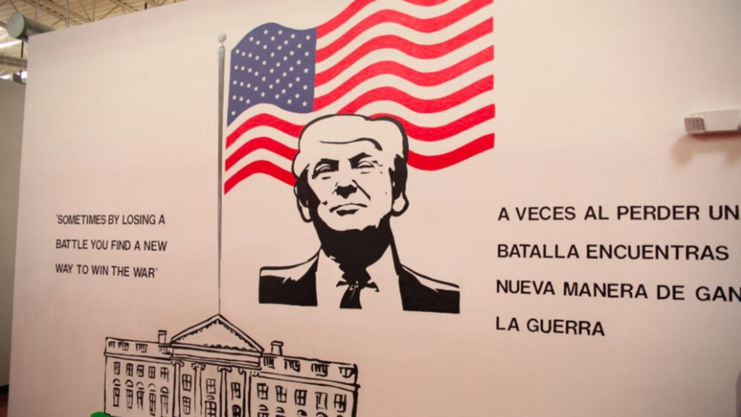 Texas Shelter Greets Migrant Kids With Big Trump Mural