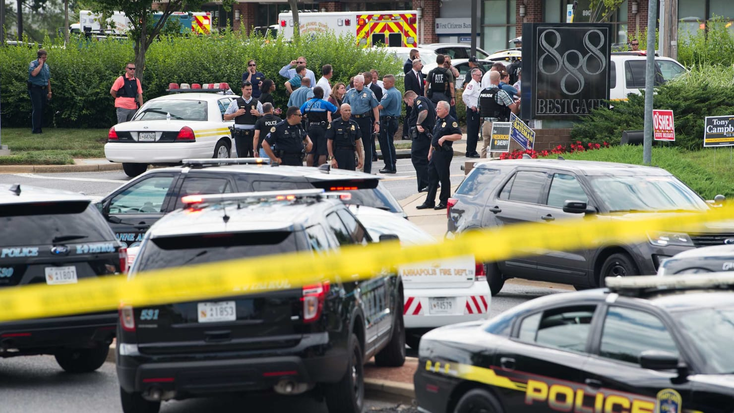 Image result for journalists killed in 'targeted attack' on Capital Gazette