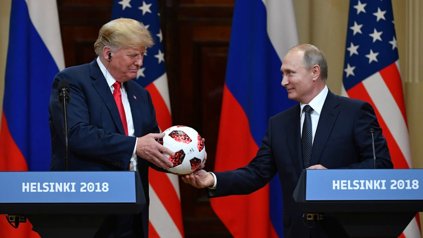 report soccer ball putin gifted to trump could be bugged the