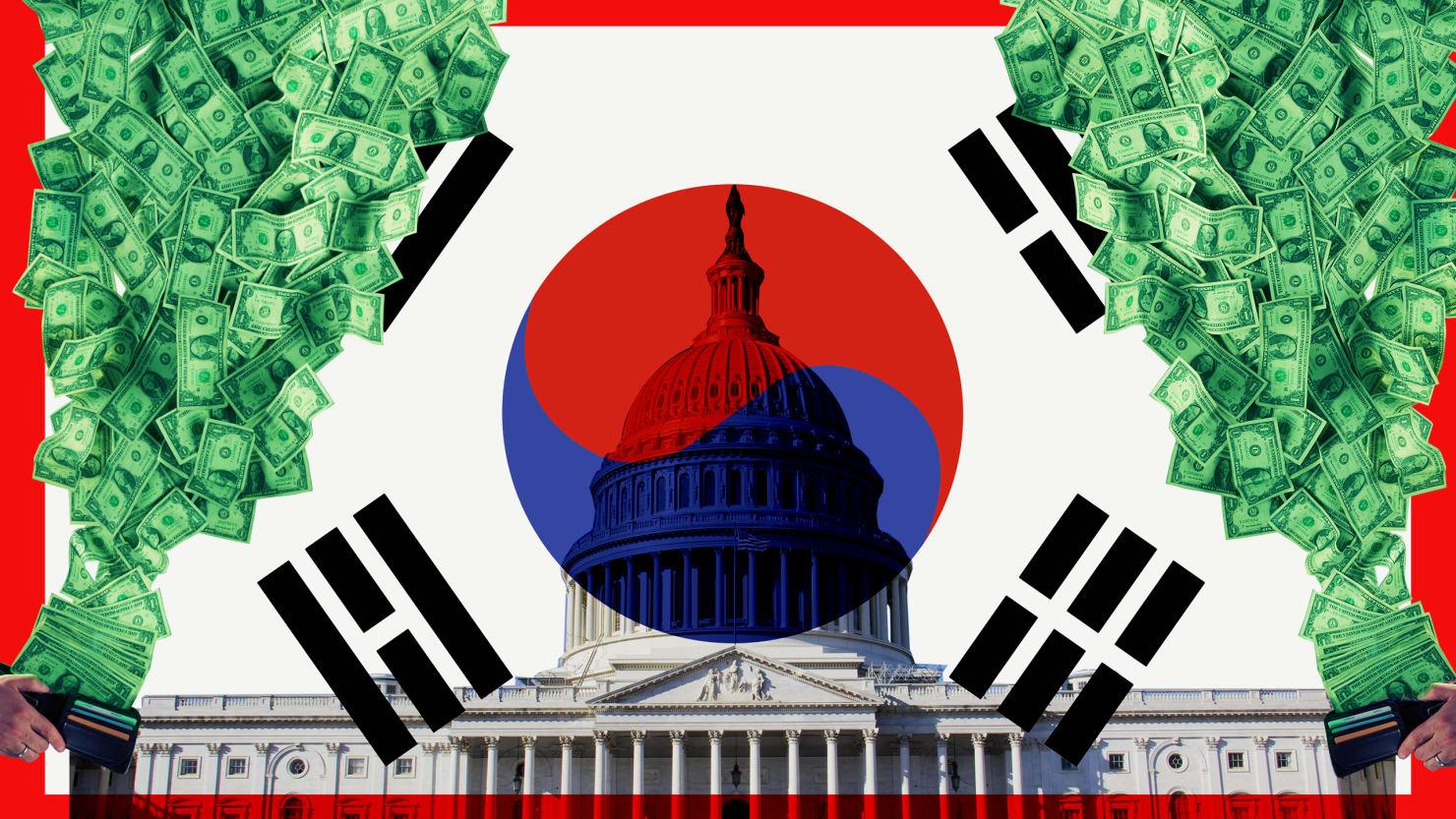 When Donald Trump Won, South Korea Started Raining Cash on D.C.