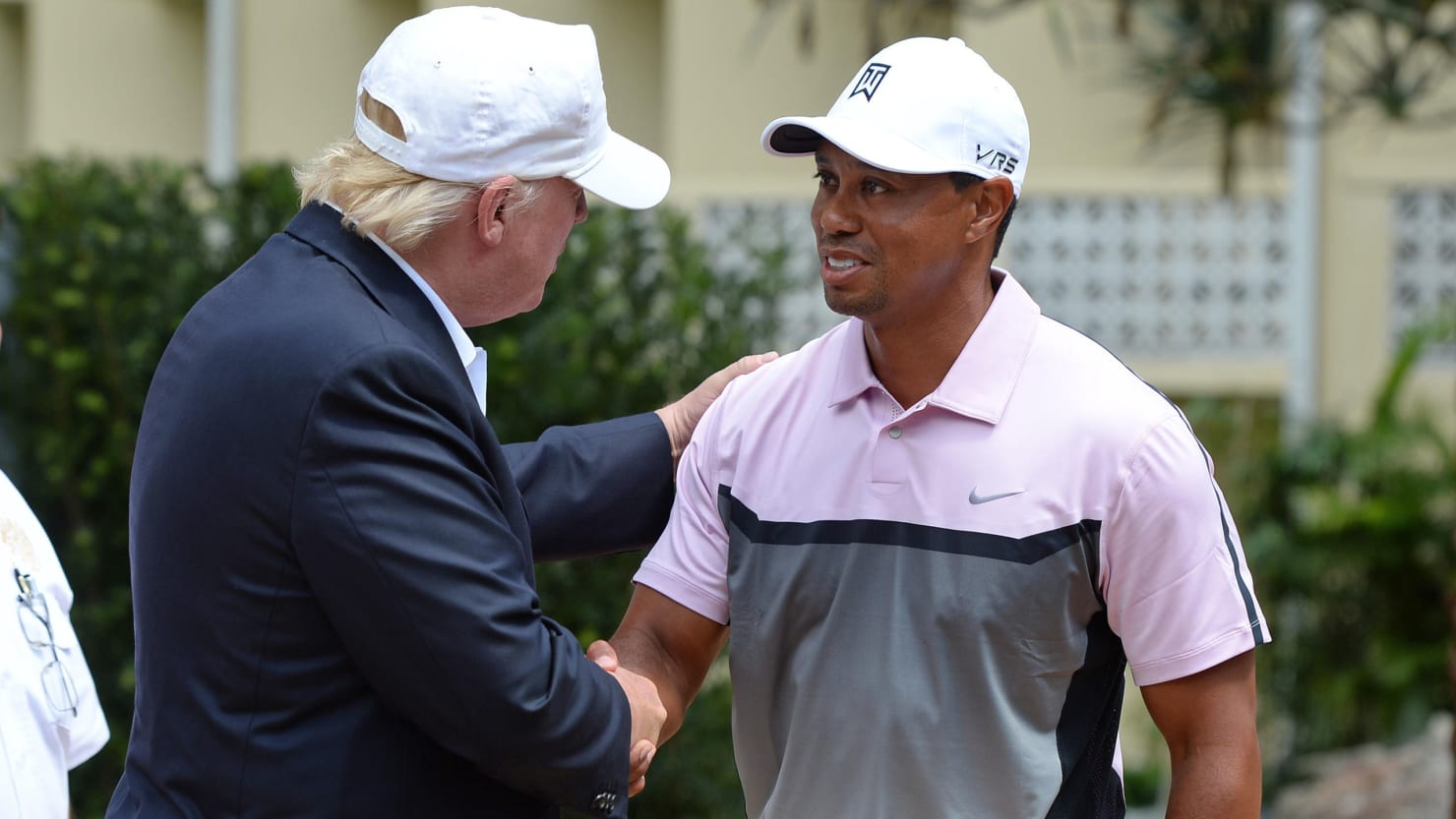 Image result for tiger woods and trump