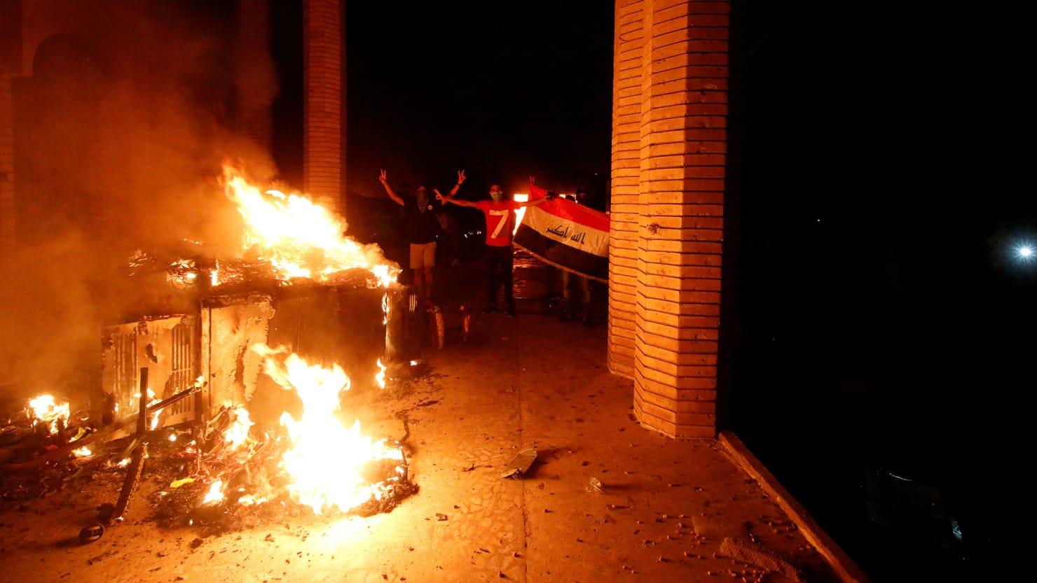 Protesters Storm Iranian Consulate in Iraq