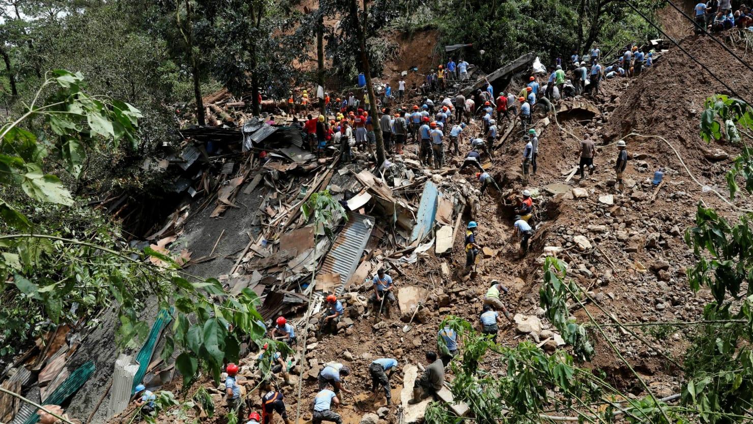 Philippines Typhoon Dozens Feared Buried In Massive Landslide