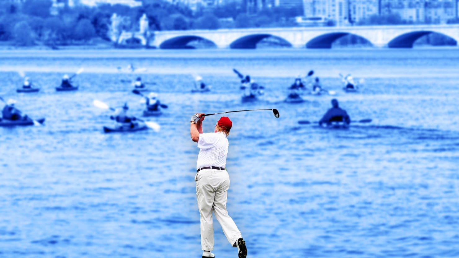 Canoers Sue Trump for Barring Them From Potomac River While He Golfs