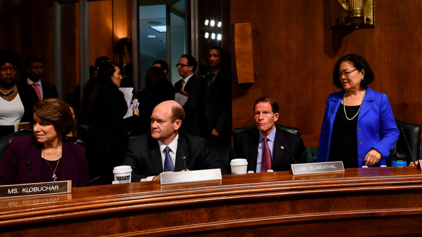 Democratic Senators Walk Out Of Judiciary Committee Hearing In Confirmation Watch And Latest News Senate Brendan Smialowski Afp Getty Immediately Following The Committees