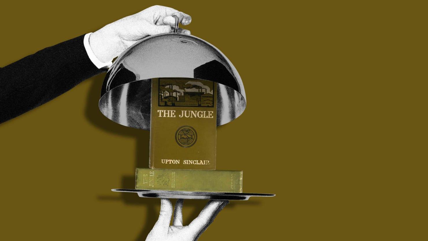 waiter opening silverware plate to reveal upton sinclair the jungle deborah blum poison squad