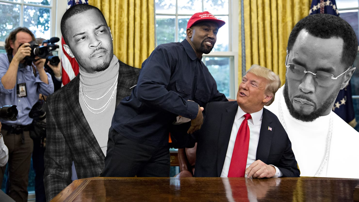 Diddy, T.I. and Other Hip-Hop Legends Blast Kanye for Trump White House Summit