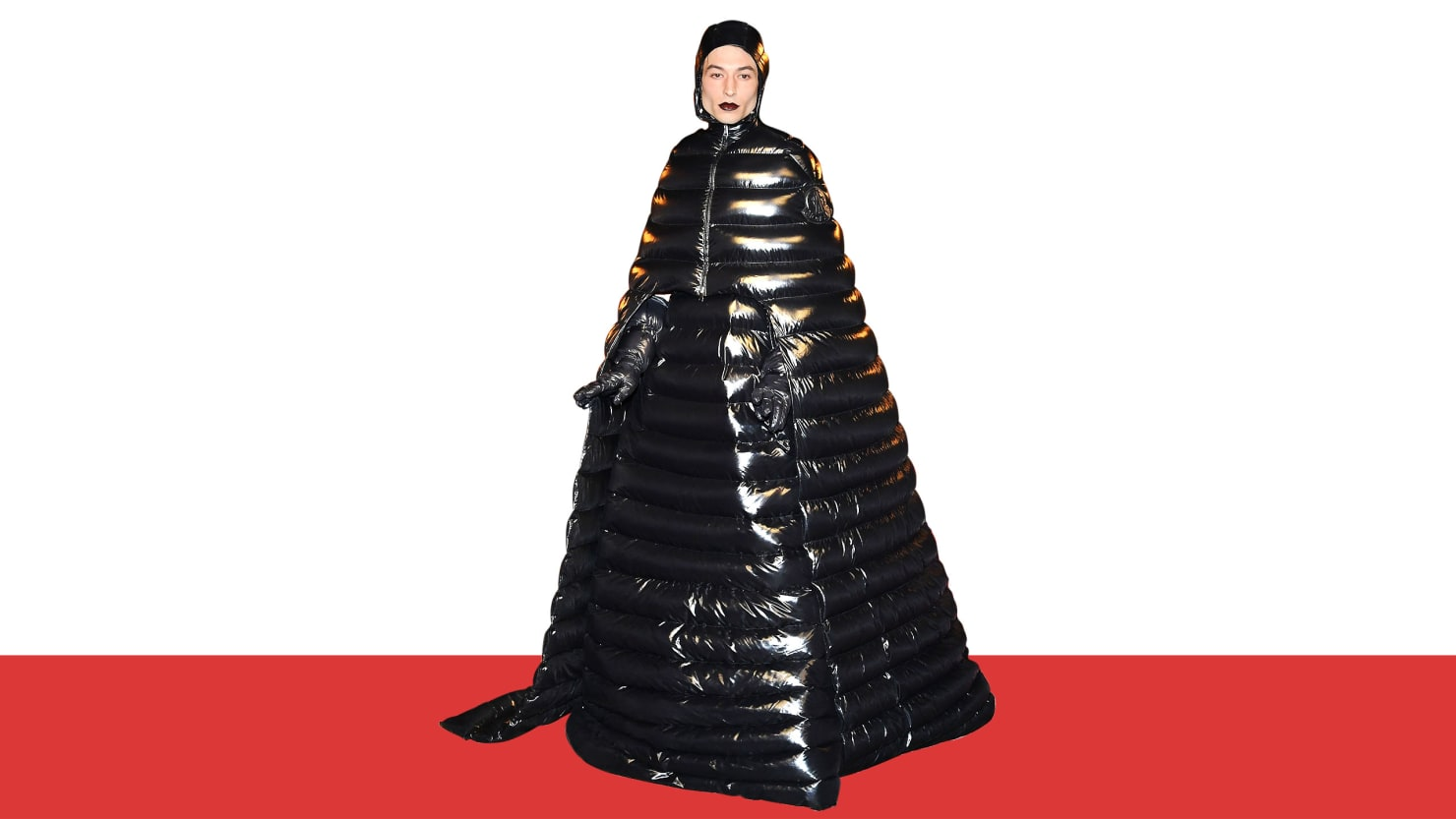 Half Jacket 2 0 >> Ezra Miller's Puffer Coat Dress Shows How Exciting Gender-Neutral Clothing Can Be