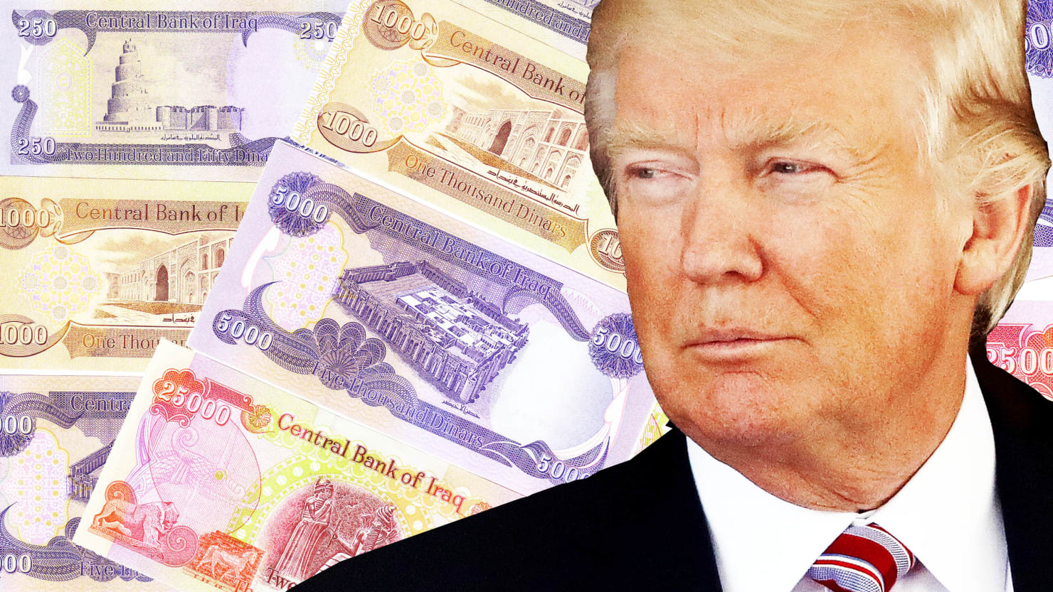 Trump Fans Sink Savings Into 'Iraqi Dinar' Scam 181119-sommer-iraqi-dinar-trump-tease_ehkldv