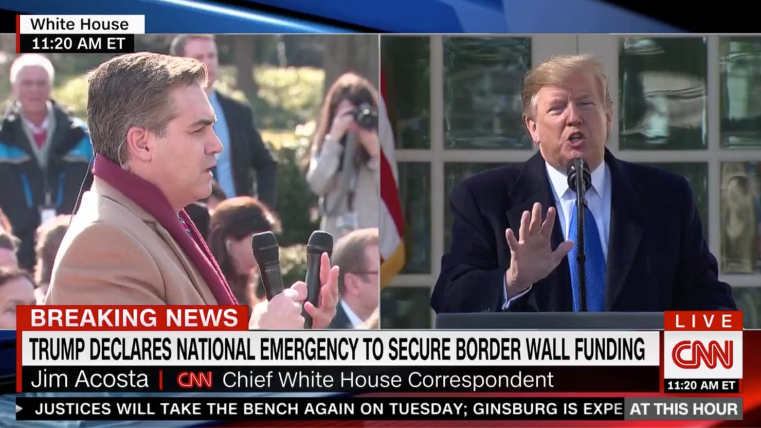 CNN World News Picture: Trump Spars With CNN's Jim Acosta During National