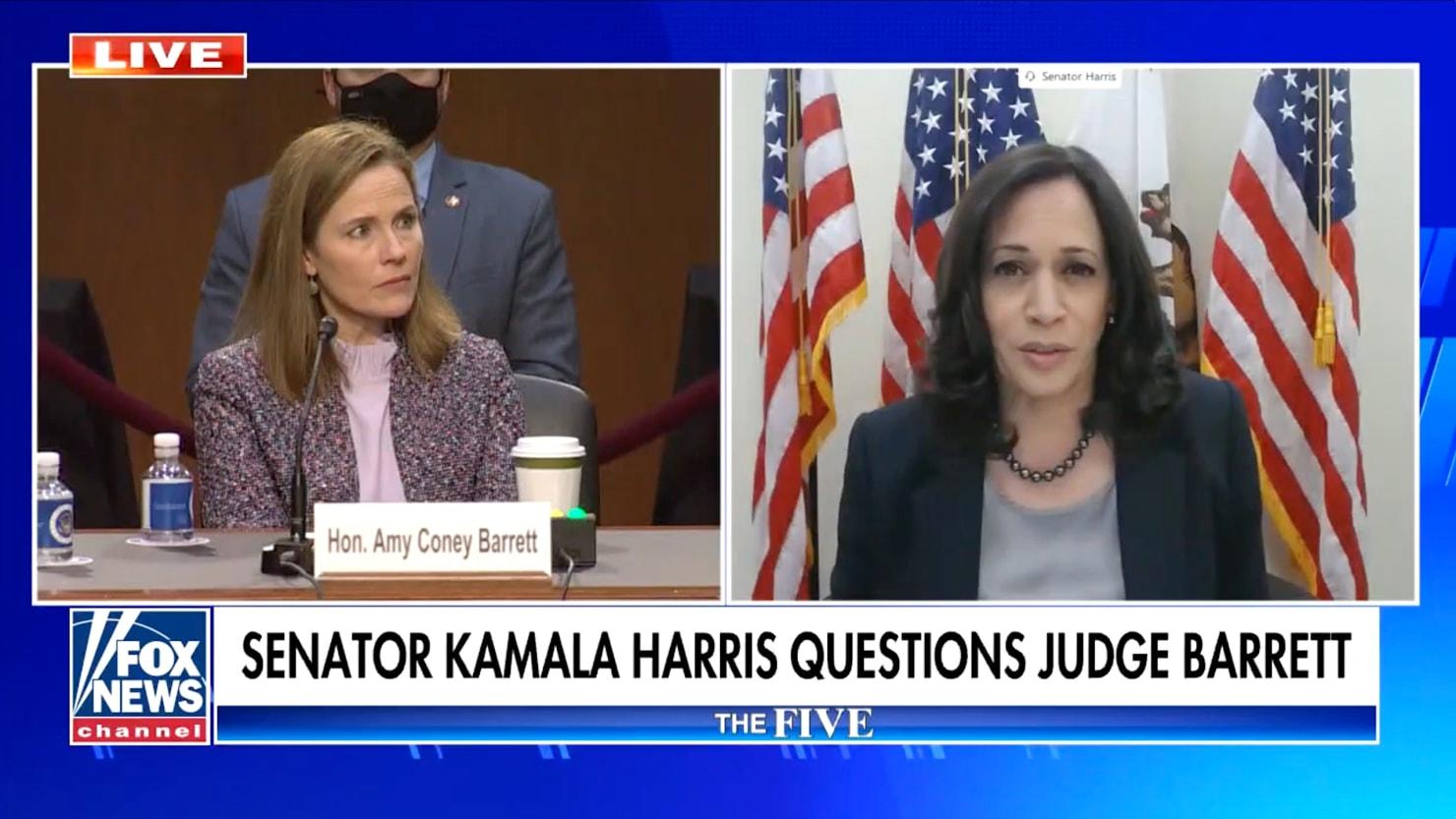 Kamala Harris Gets Barrett to Deny Climate Change Consensus
