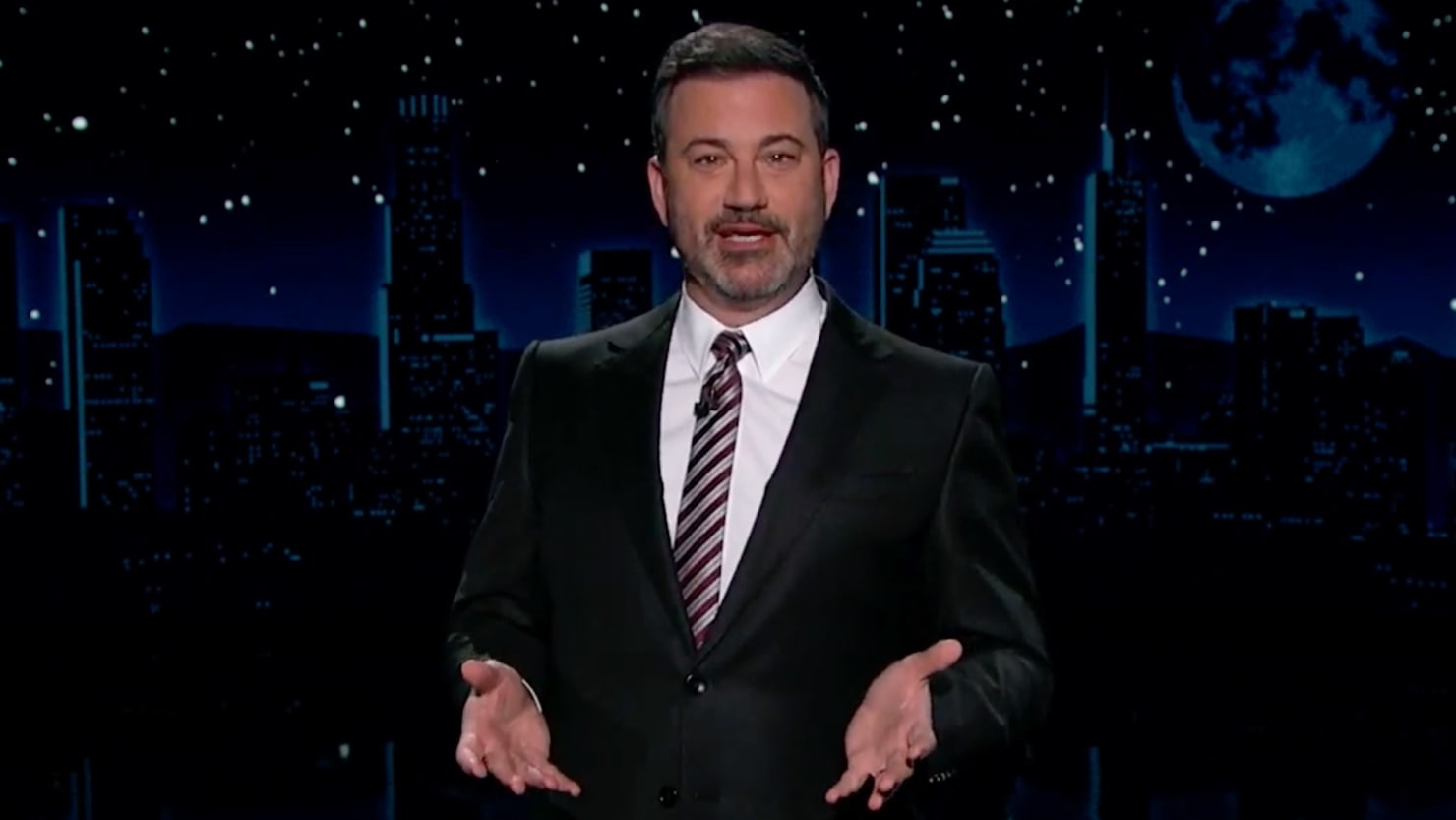 Jimmy Kimmel Accuses Fox News' Maria Bartiromo of 'Auditioning' to Be Trump's Next Wife