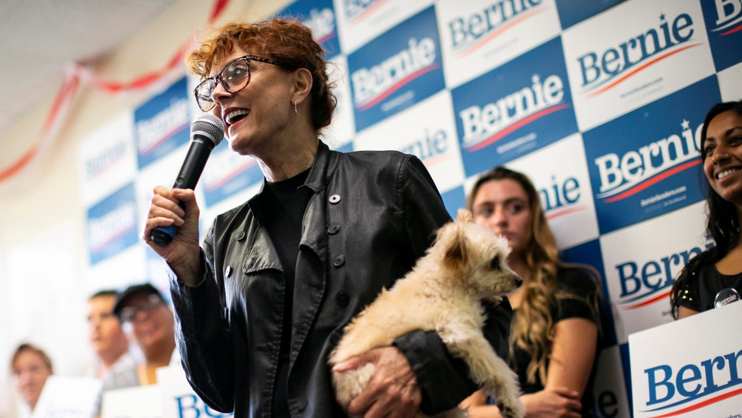 Susan Sarandon Appears to Snipe at Elizabeth Warren While Introducing Bernie Sanders at Iowa Event