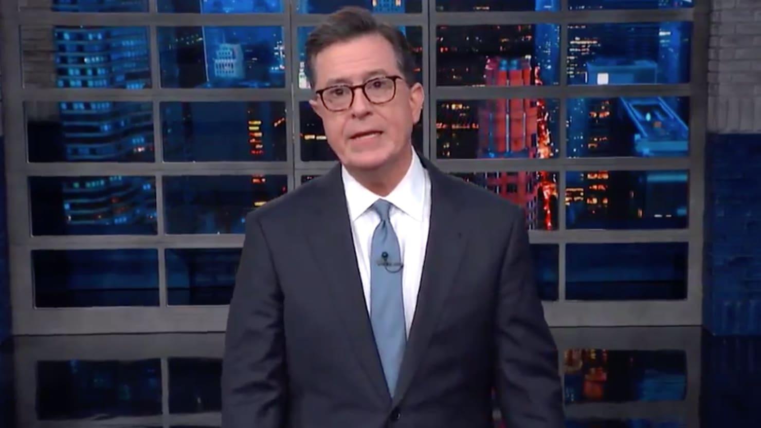 Colbert Slams Trump's 'Silence' on Coast Guard Terrorist