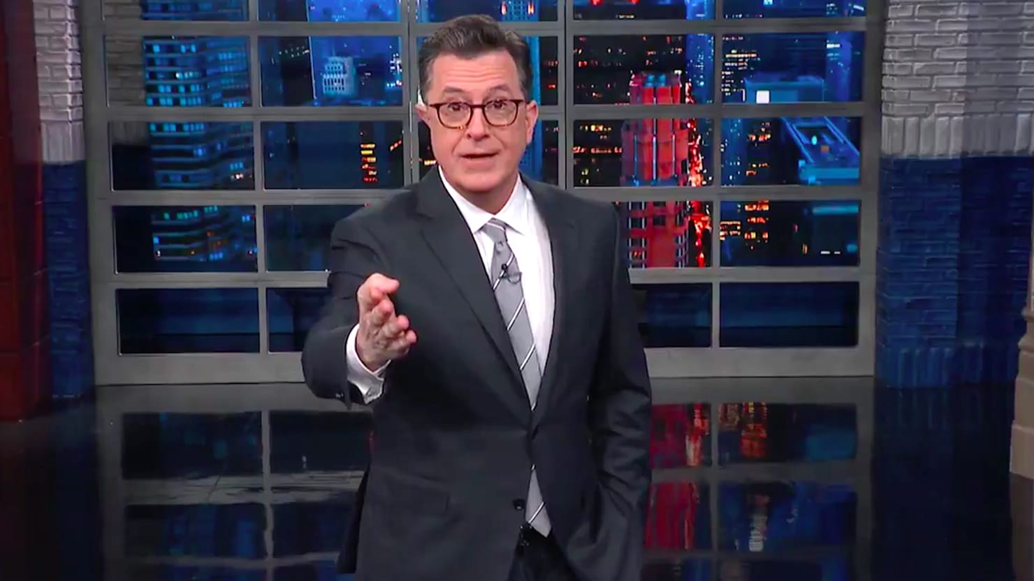 Colbert Rips Trump for Canceling White House Christmas Party for Press