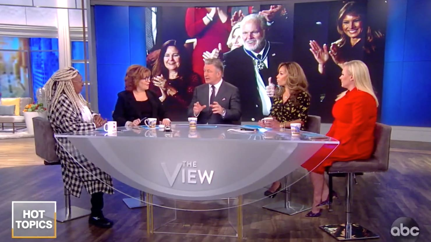 Alec Baldwin and 'The View' Clash With Meghan McCain Over Rush Limbaugh State of the Union Honor