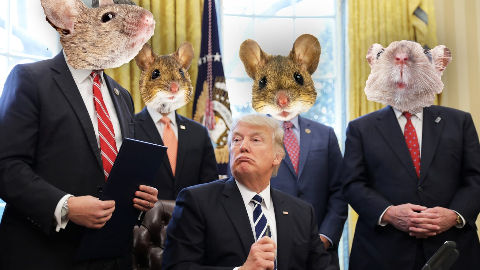 GOP House Mice Put Trump Before Country