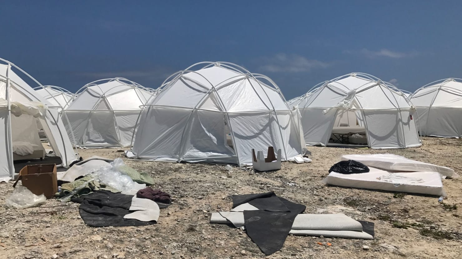 Image result for fyre festival photos